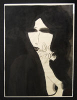 Walasse Ting Mystery woman 2001 Painting Acrylic on Rice paper