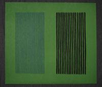 Gene Davis Green Giant Pencil Signed Original Art Lithograph 1980