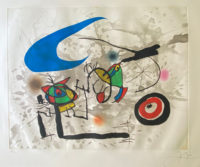 Joan Miro (D. 562) Original 1972 Pencil Signed Print Etching, with Aquatint