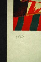 Max Papart Guitare II Carborundum Embossed Etching Signed Art