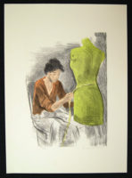 Raphael Soyer SEAMSTRESS 2 1979 Pencil Signed Art Lithograph