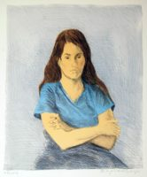 Raphael Soyer Seated Woman 1979 Signed Color Lithograph