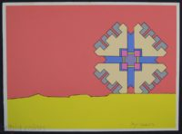 """Peter Max """"Geometric Object"""" Signed 1971 Limited Edition Silkscreen"""