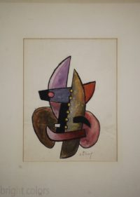 Sorel Etrog – Study for Painted Constructions 1958 – Original Watercolor