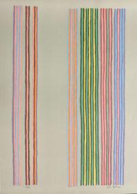 Gene Davis Signed Limited Edition 1980 Silkscreen Royal Curtain Fine Art