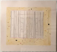 Gene Davis  Yellow Jack 1979 Lithograph on Arches Archival Paper (Framed)