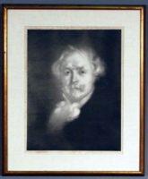 Eugène Carrière (french, 1849 – 1906), Edmond de Goncourt, signed lithograph