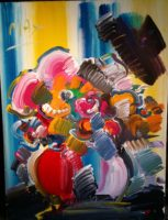 Peter Max, Abstract Flowers – 30″ X 40″