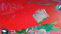 Peter Max, Flower Hat, Original Painting,