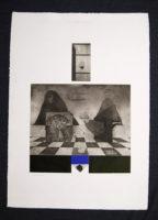 Peter Olley Ascension Original Signed Vintage Art Etching 1966