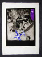 Peter Olley Death of an Ace Original Signed Vintage Art Etching 1968