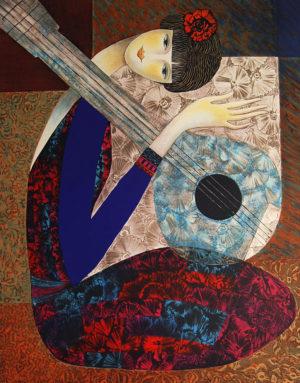 Nile Jade Lithograph Guitar