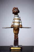 Charles Bragg Meyer The Flyer 1989 Bronze Sculpture