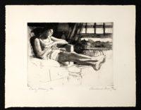 Andrew Rush Signed Art Etching 1968 18 x 14