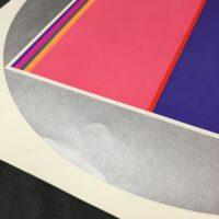 Fletcher Benton 28.5 x 28.5 Silkscreen Abstract Color Art