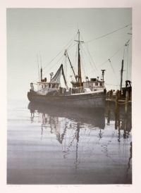 Helen Rundell Lithograph Early Morning on Greenport
