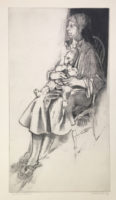 Andrew Rush Signed Limited Edition Large Lithograph Mother and Child 1964