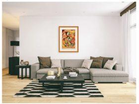 Nechita Print Framed on wall
