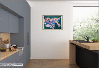 appel Print Framed in Modern Room