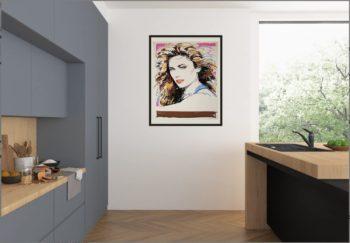 Mukai Print Framed in Modern Room