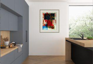 Rauschenberg Print Framed in Modern Room