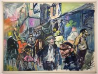 Detroit Scene Painting Painting by Sam Karres