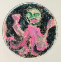 Karel Appel Portrait Of Eugene Pastel On Paper