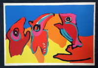 Karel Appel Dancing In The Spring Signed Limited Edition Silkscreen