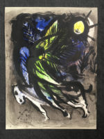 Marc Chagall 1960 Lithograph The Angel M.288