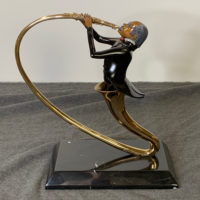 Paul Wegner 1986 Bronze Sculpture Swingin' Sax Limited Edition