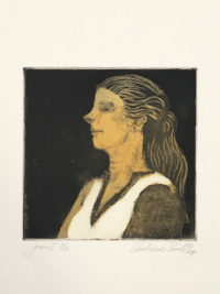 Andrew Rush Signed Limited Edition Art Etching Portrait of Jean