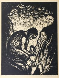 Jacob Steinhardt 1965 Limited Edition Woodcut Joseph in the Pit
