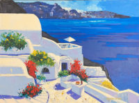 Barbara McCann Greek Isles II 1999  Overpainted Signed Limited Edition Canvas