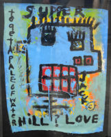 Jim Stella Two Mixed Media Framed Paintings 2014 Jack and Jill