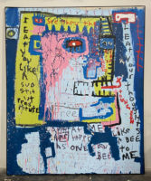 Jim Stella 2017 Large Painting Mixed Media 82 x 66