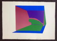 Michael Peel Signed Limited Edition OP Art Silkscreen 1968 Vista