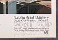 Richard Estes Urban Landscapes Oct 83 Exhibit Poster
