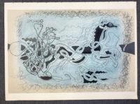 Georges Braque Le char bleu Verve 1955 Lithograph printed by Mourlot Paris