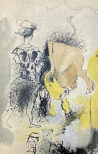 Georges Braque Torero Verve 1955 Lithograph printed by Mourlot Paris