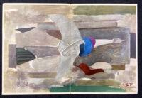 Georges Braque Oiseau Verve 1955 Lithograph printed by Mourlot Paris
