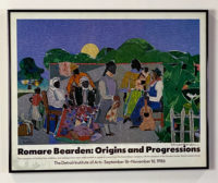 Romare Bearden Quilting Time 1986 Detroit Rare Exhibition Signed Poster and Catalog