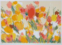Joan Paley Flowers 1980 Signed Limited Edition Silkscreen