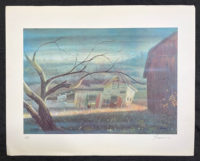 Peter Baum 1980 Signed Limited Edition Lithograph Weathered
