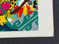 Hunt Slonem Still Life 1980 Spell III Signed Limited Edition Silkscreen