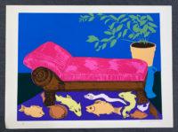 Hunt Slonem Still Life 1980  Signed Limited Edition Silkscreen