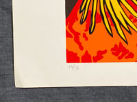 Hunt Slonem Still Life 1980 Pheasant Signed Limited Edition Silkscreen