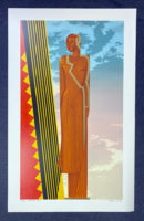 Michael Knigin 1980 Signed Limited Edition Silkscreen Art Deco