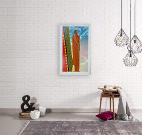 Michael-Knigin-1980-Signed-Limited-Edition-Silkscreen-Art-Deco