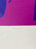Ronald King Burlesque II 1970 Silkscreen Signed Limited Edition Modern Art