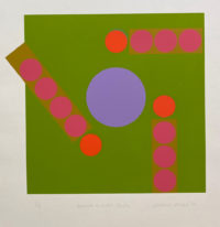 Michael Stokoe Around a Violet Centre 1969 Limited Edition Serigraph